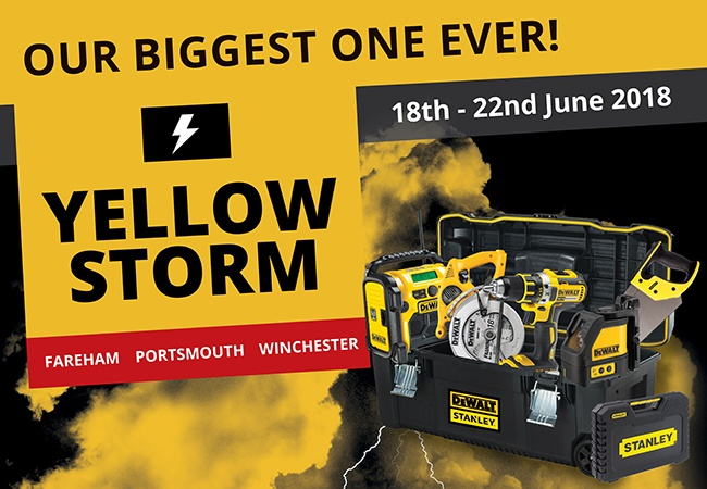 DeWALT Yellow Storm 2018