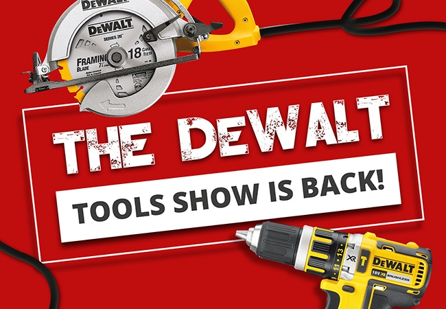 Elliotts DeWALT Tool Show is back