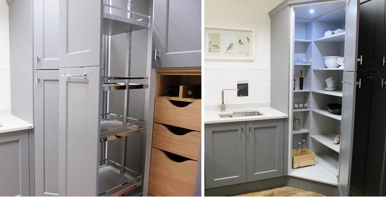Kitchen corner storage units - Ringwood showroom