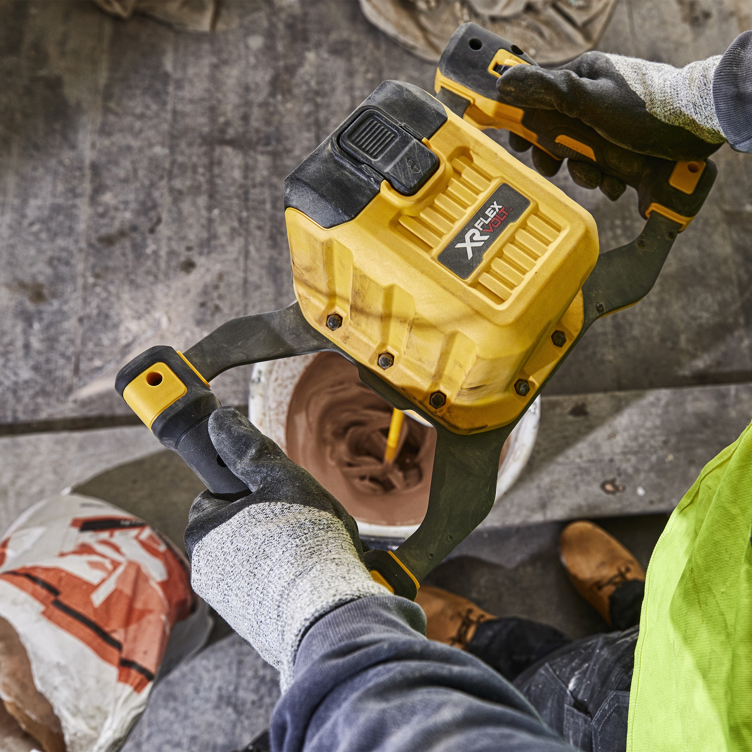 DeWALT DCD240X2 in use