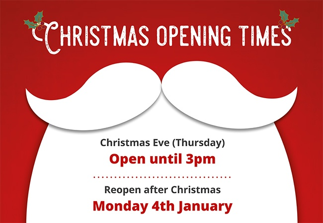 Elliotts Christmas Opening Hours - 2020