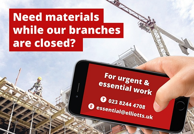 Building materials for urgent and essential works | Elliotts