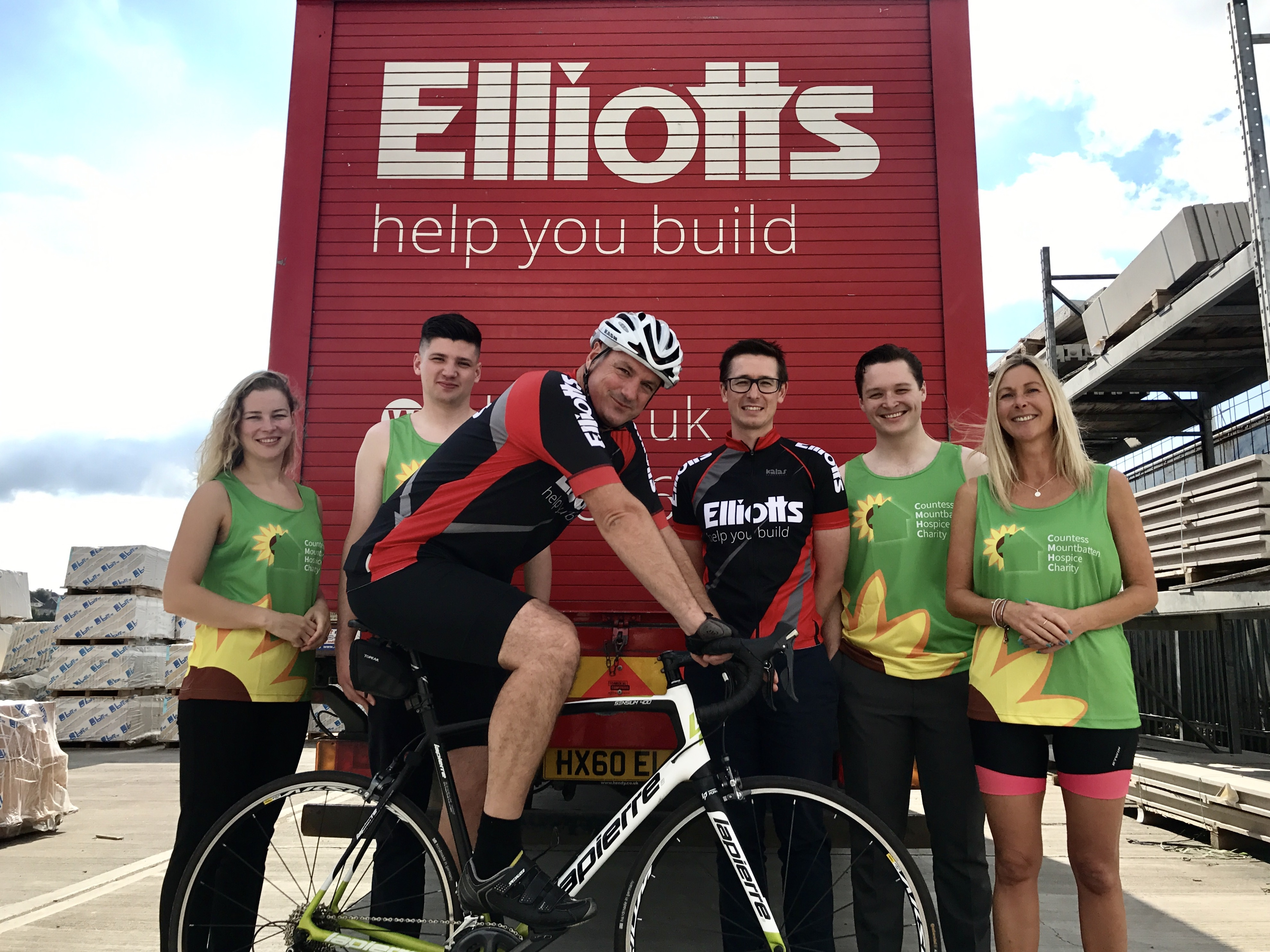 Half of Team Elliotts, from left to right - Adriana Walter, Simon Mattock, Steve Thomas, Steven Webber, Luke Hawkins and Sarah Galton