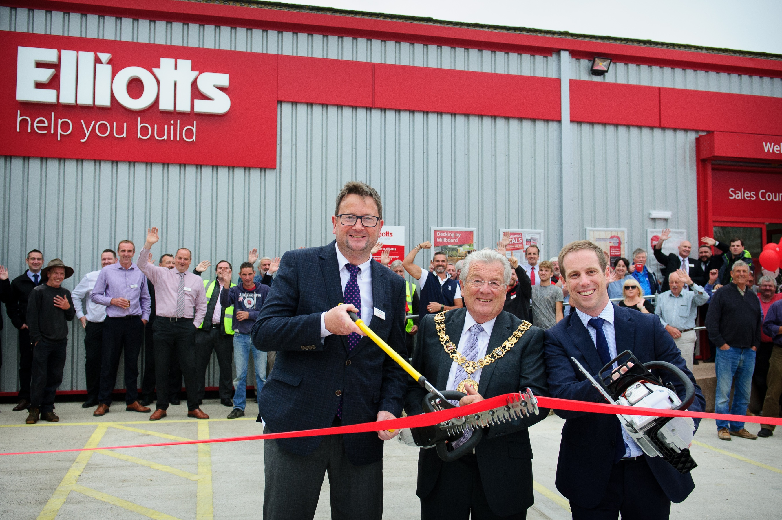 Pictured from left to right is Branch Manager, Rob Norris, The Mayor of Winchester, and Managing Director, Tom Elliott