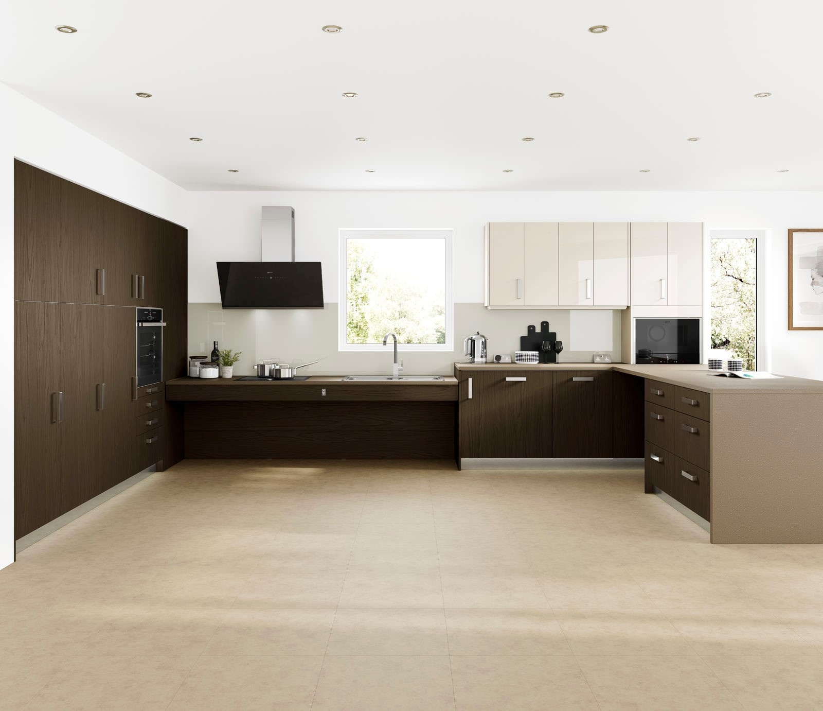 Rise and fall worksurface from the Freedom range by Symphony