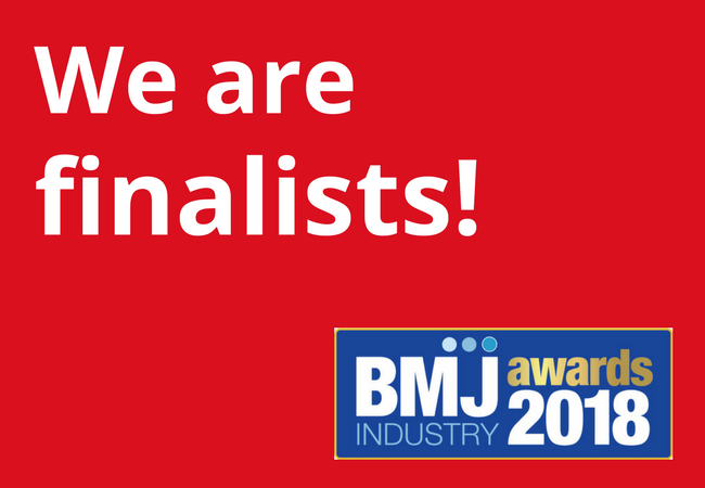 We are finalists - BMJ Awards