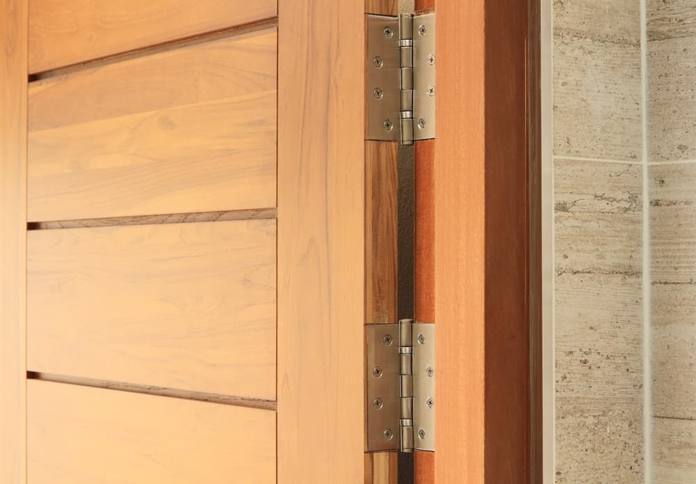 Door on hinges
