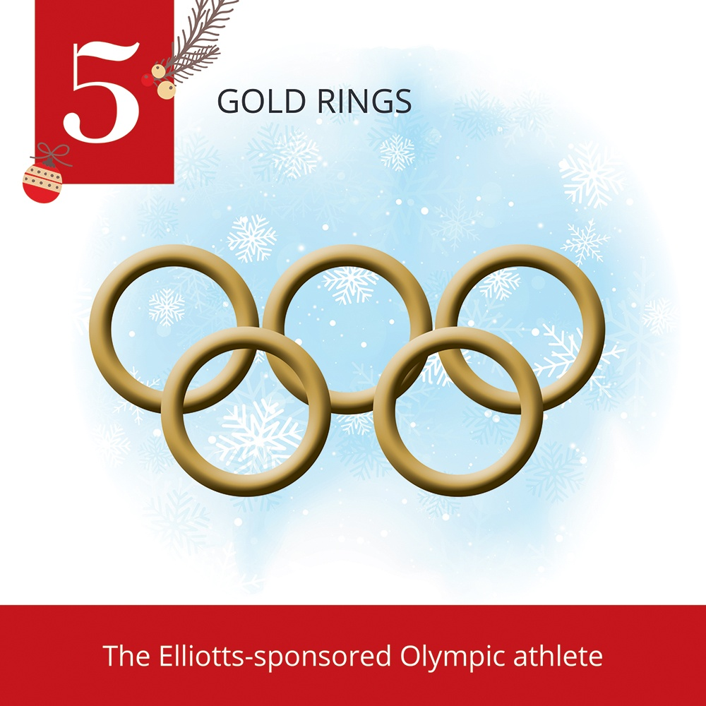 12 Days of Christmas-5 Gold Rings