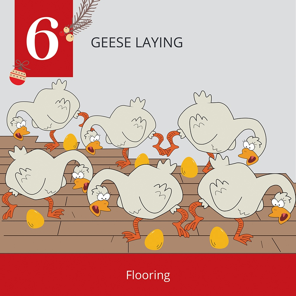 12 Days of Christmas-6 Geese Laying