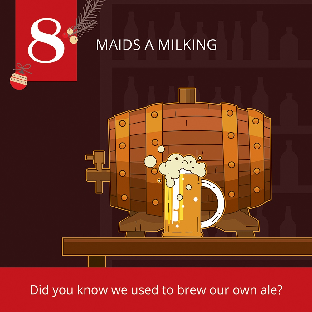 12 Days of Christmas-8 Maids a milking