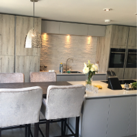 Contemporary marina kitchen - designed by Elliotts Living Spaces
