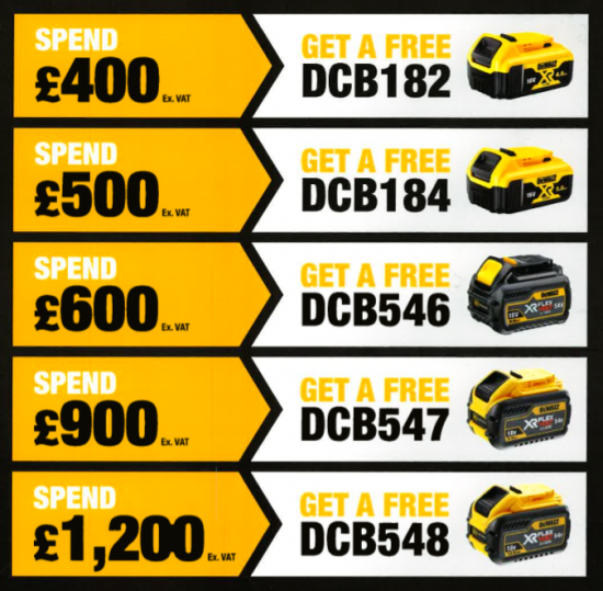 Battery deal - DeWALT