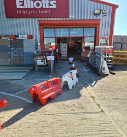 Elliotts Tadley | Trading safely | Outside branch