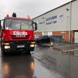 Elliotts lorry outside EFC