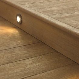 Millboard Enhanced Grain Coppered Oak with bullnose edging