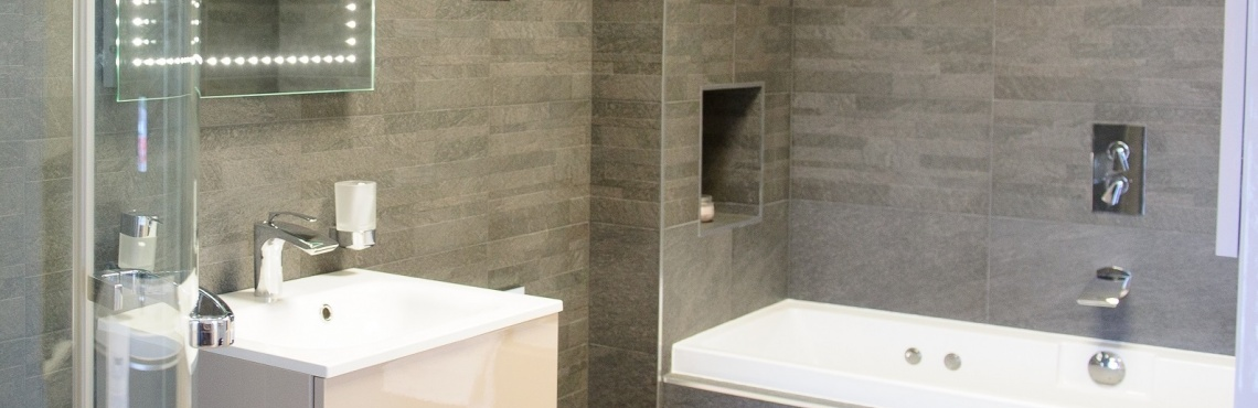 Ringwood bathroom - alcove storage | Elliotts Living Spaces