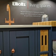 Laura Ashley kitchen with copper - Elliotts Living Spaces - Lymington 1