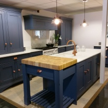 Laura Ashley kitchen with copper - at Elliotts Living Spaces in Lymington
